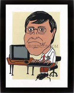 Bill Gates Caricature Print (12x16)