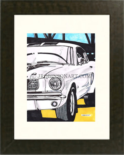 1966 Ford Mustang Print (12x16)