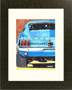 1966 Ford Mustang Fast-Back Print (12x16)