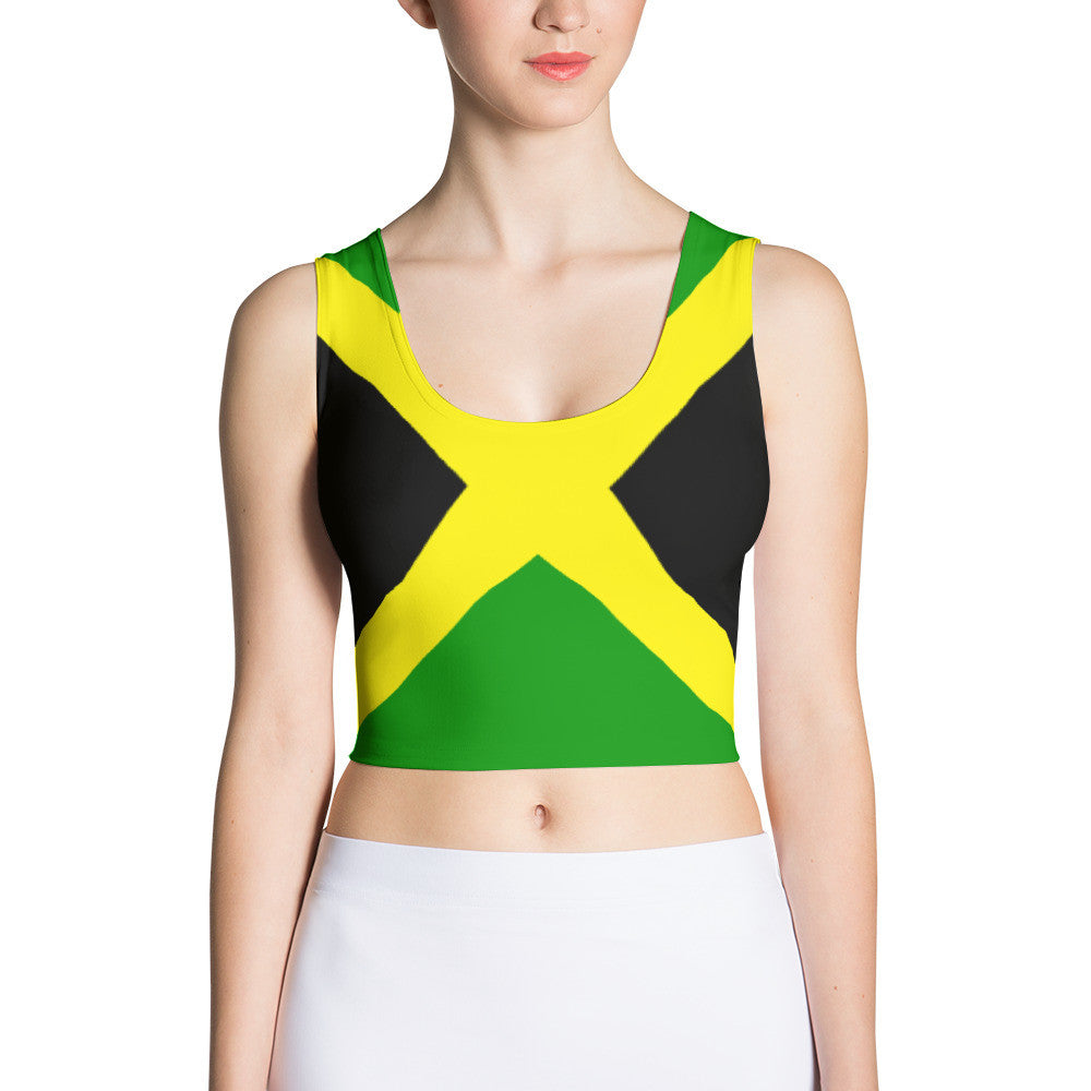 Jamaica Flag - Women's Fitted Crop Top
