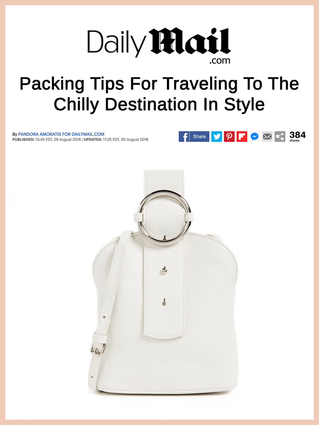 DAILY MAIL, Packing Tips For Traveling To The Chilly Destination In Style