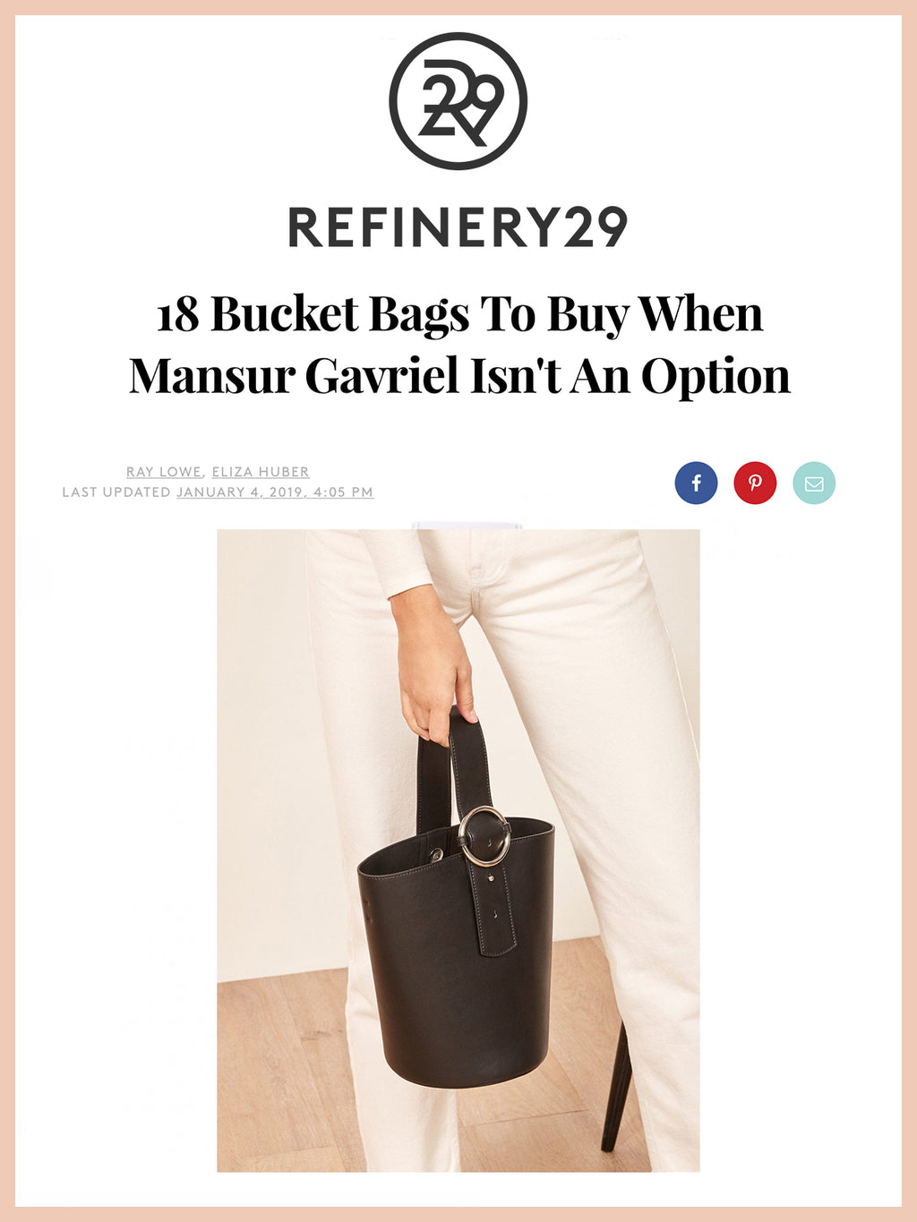 REFINERY29, 18 Bucket Bags To Buy When Mansur Gavriel Isn't An Option