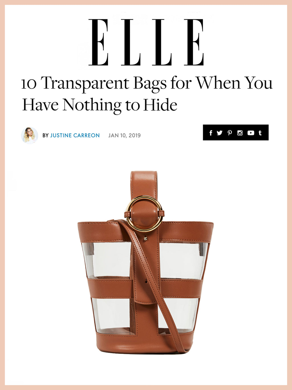 ELLE, 10 Transparent Bags for When You Have Nothing to Hide