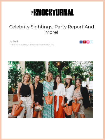 Theknockturnal, Celebrity Sightings, Party Report And More!