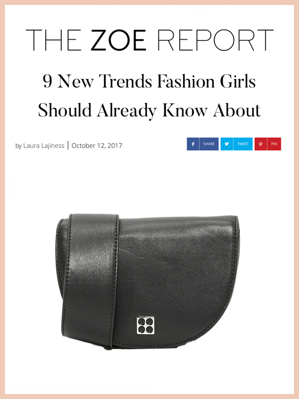 THE ZOE REPORT, 9 New Trends Fashion Girls Should Already Know About
