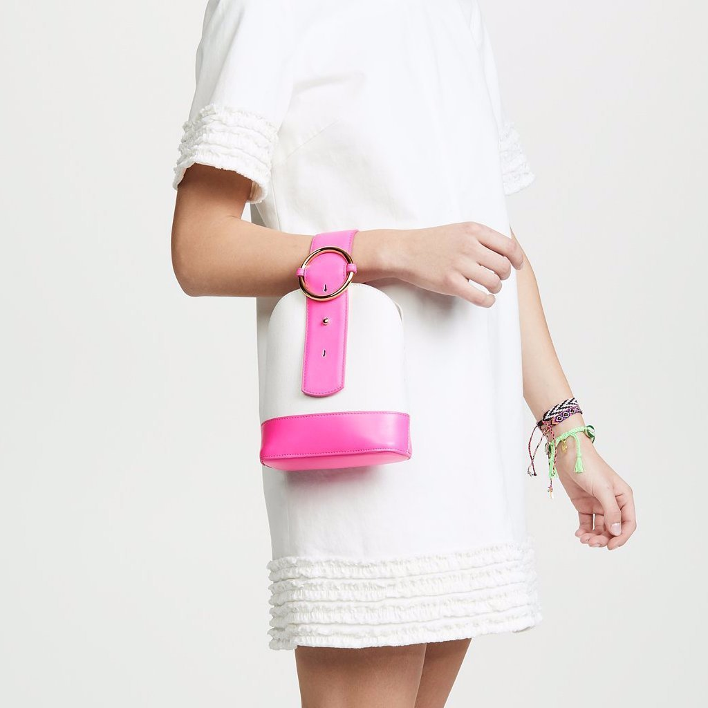 Addicted Bracelet Bag in Neon Pink | Parisa Wang | Featured