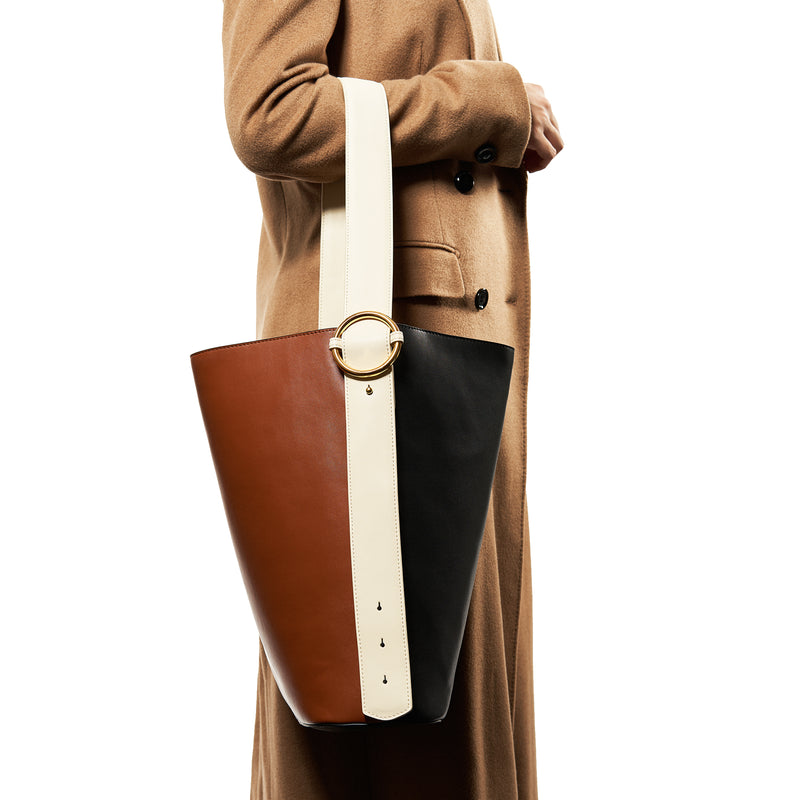 Allured Tote Bag in Brown Black | Parisa Wang | Featured
