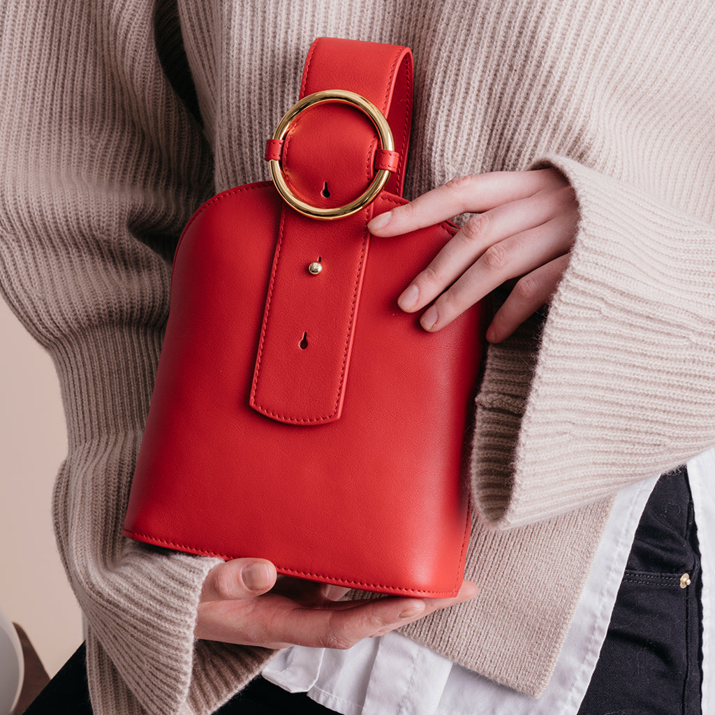 Addicted Bracelet Bag in Persian Red | Parisa Wang | Featured