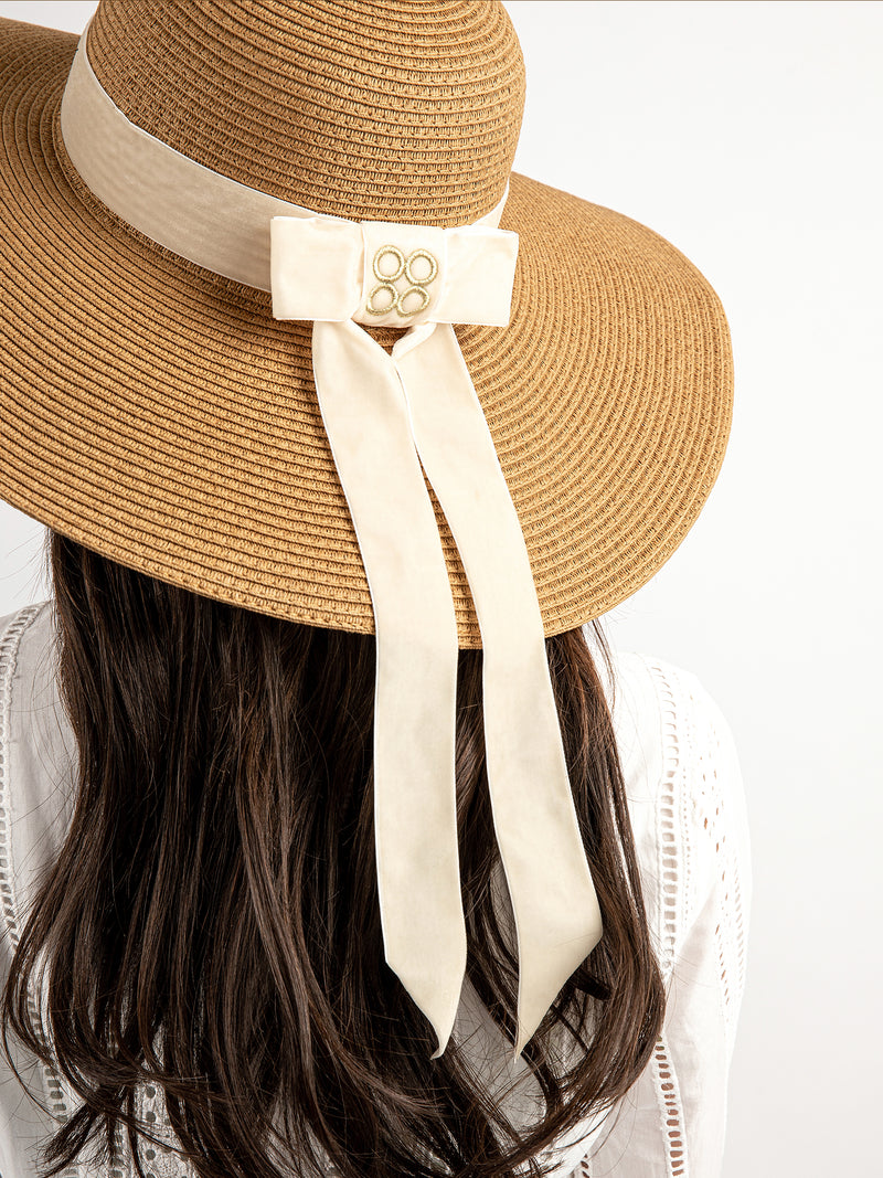 Audrey Floppy Straw Hat in Sand | Parisa Wang | Featured