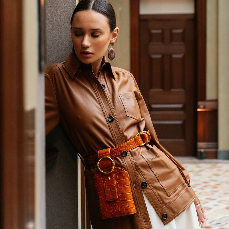 Addicted Belt Bag in Bronze | Parisa Wang | Featured