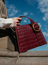 Enchanted Top Handle Bag in Burgundy | Parisa Wang | Featured