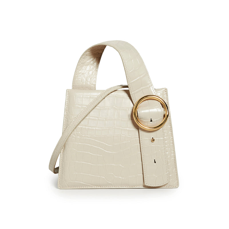 Enchanted Top Handle Bag in Bone | Parisa Wang