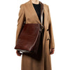 Allured Tote Bag in Chocolate Brown | Parisa Wang