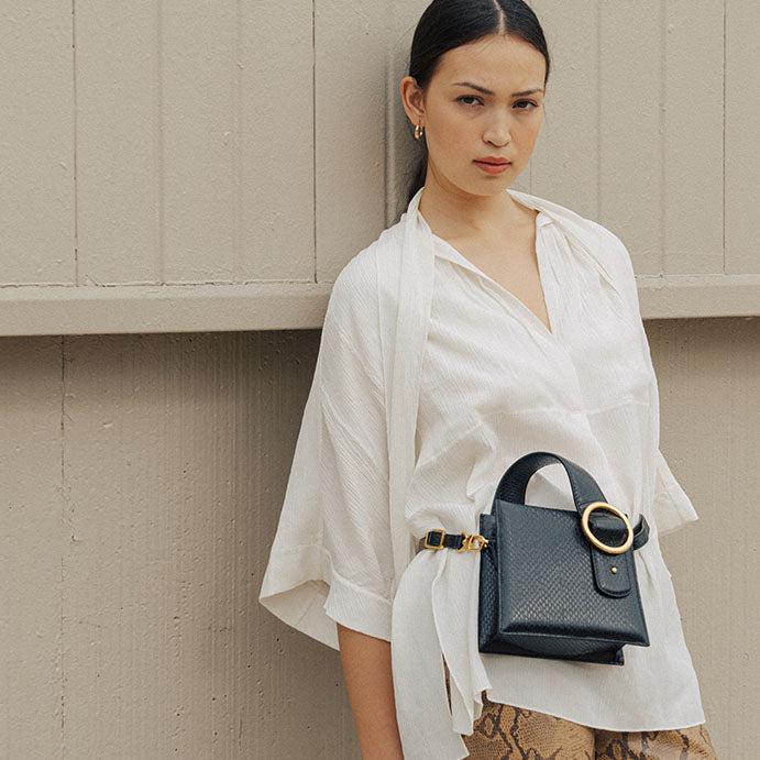 Enchanted Belt Bag in Black | Parisa Wang | Featured