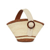 Enchanted Straw Bag in Cream Brown | Parisa Wang