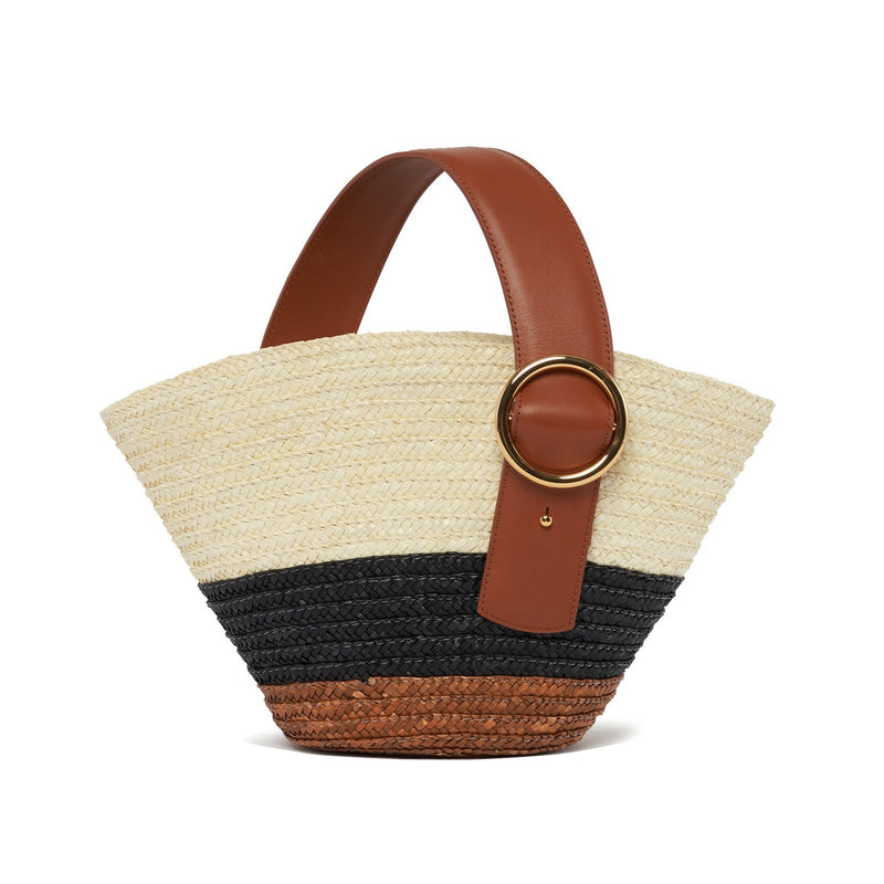 Enchanted Straw Bag in Brown Black | Parisa Wang
