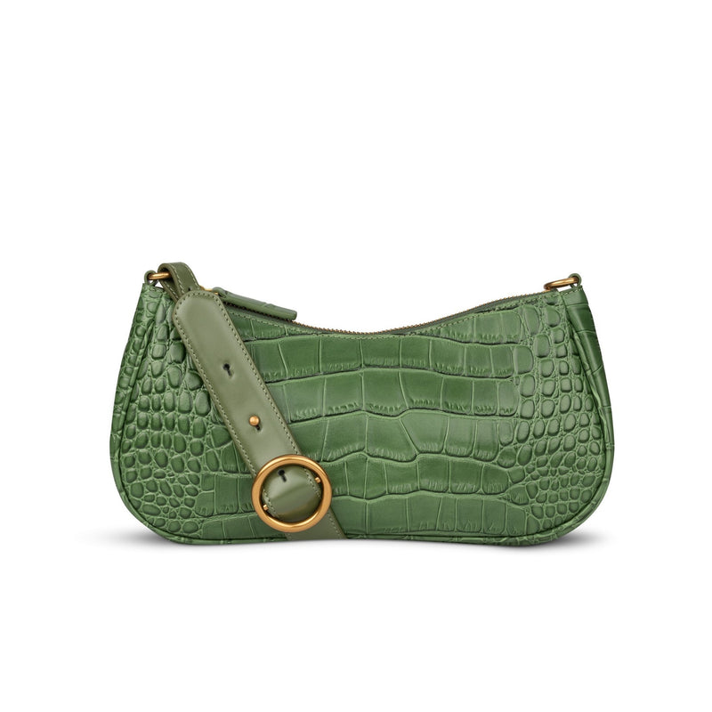 Charmed Baguette in Olive Green | Parisa Wang |