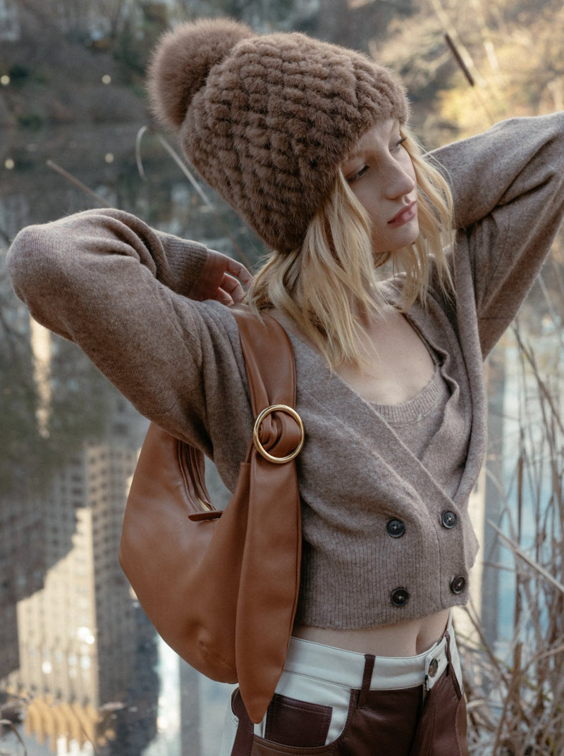 Allured Croissant Bag in Camel | Parisa Wang | Featured