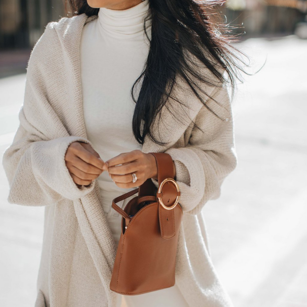 Addicted Bracelet Bag in Brown | Parisa Wang | Featured