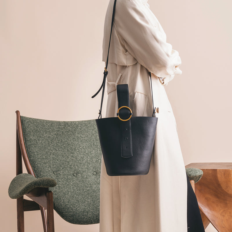 Addicted Bucket Bag in Black | Parisa Wang | Featured