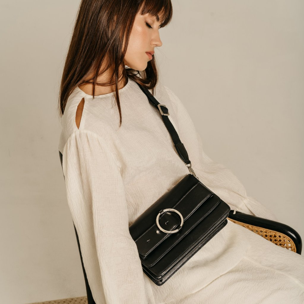 Allured Shoulder Bag in Black | Parisa Wang | Featured