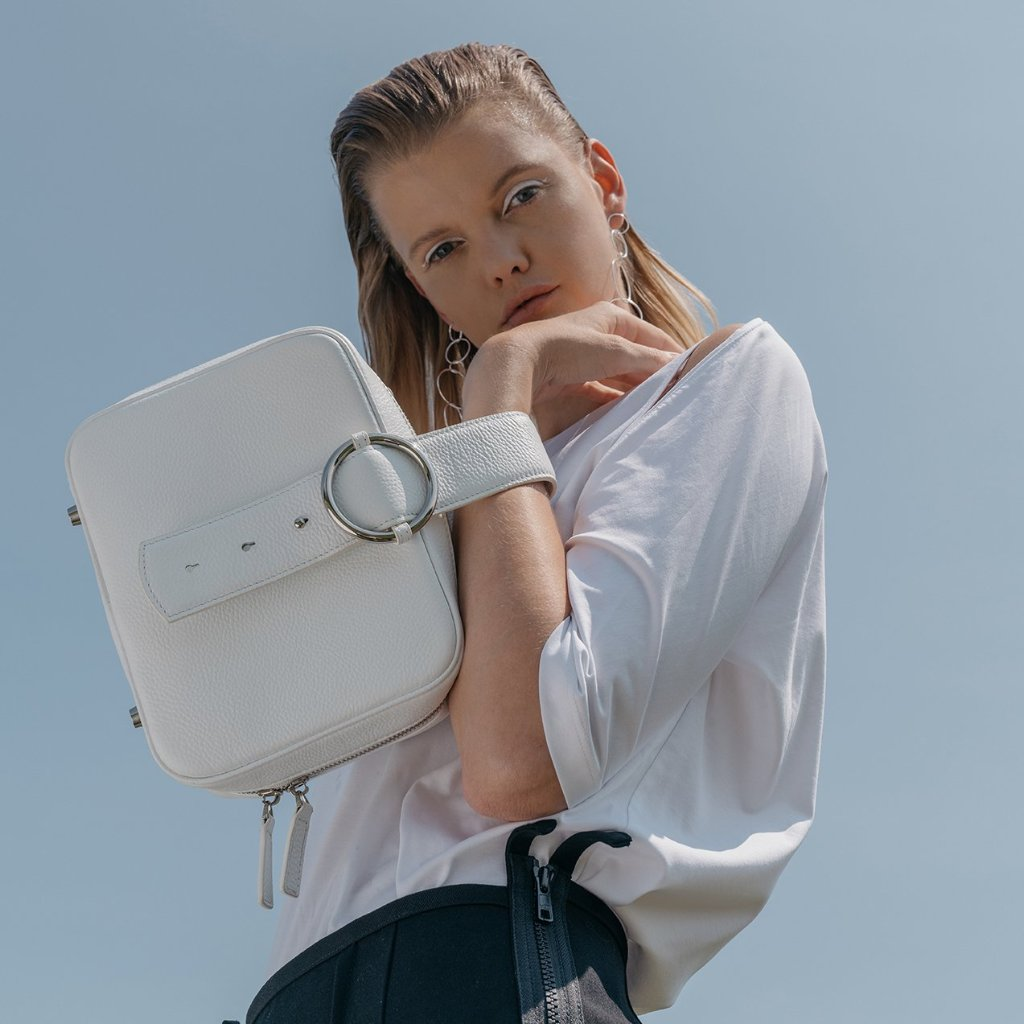Allured Vanity Case in White | Parisa Wang | Featured