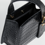 Enchanted Top Handle Bag in Black | Parisa Wang