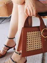 Enchanted Top Handle Bag in Bamboo Brown | Parisa Wang