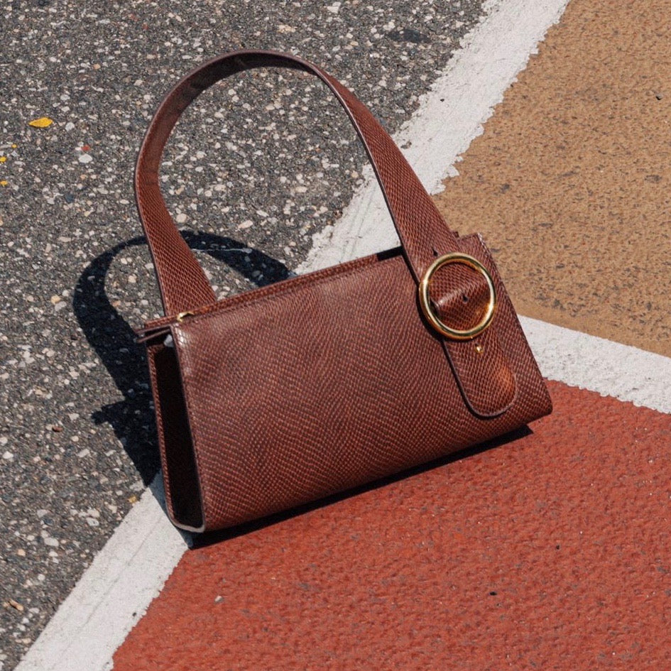 Enchanted Baguette Bag in Chocolate Brown | Parisa Wang