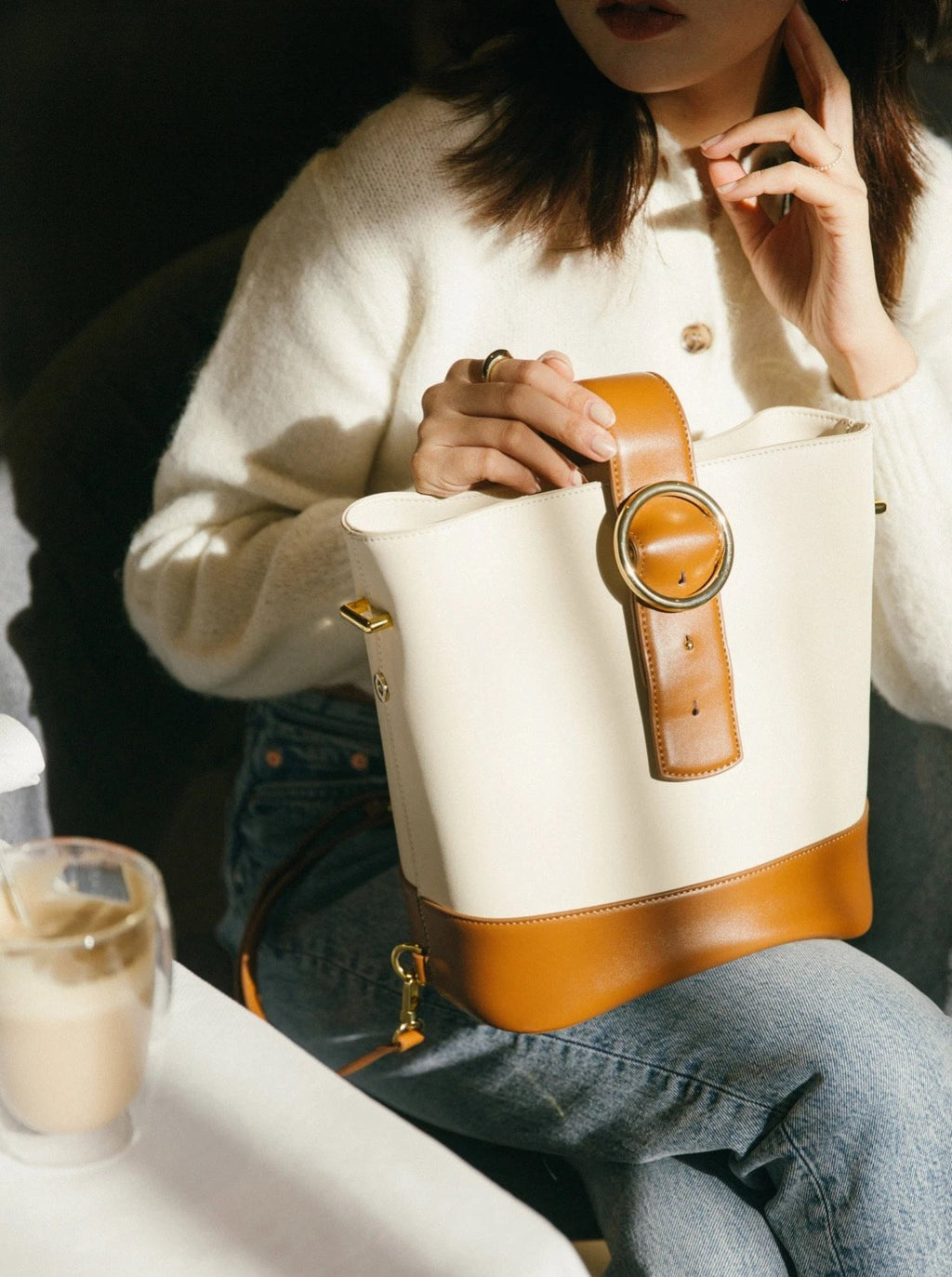 Addicted Backpack in Cream Brown | Parisa Wang | Featured