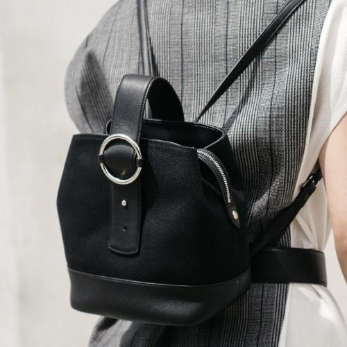 Addicted Canvas Backpack in Black Silver | Parisa Wang | Featured