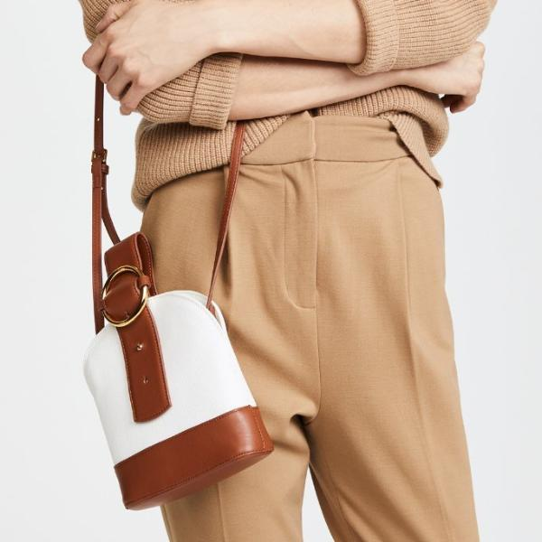 Addicted Canvas Bracelet Bag in Brown Cream | Parisa Wang | Featured