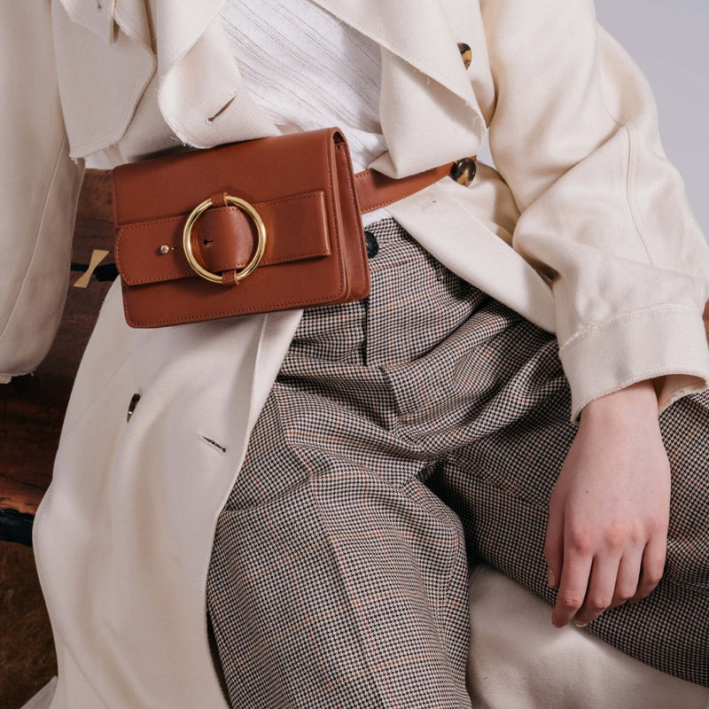 Allured Belt Bag in Brown | Parisa Wang | Featured