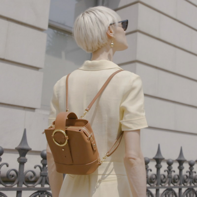 Addicted Mini Backpack in Brown | Parisa Wang | Featured