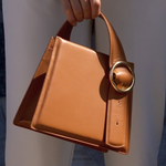 Enchanted Top Handle Bag in Camel | Parisa Wang | Featured