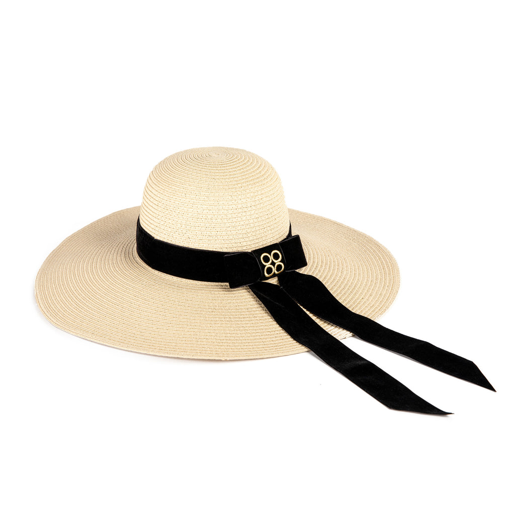 Audrey Floppy Straw Hat in Cream | Parisa Wang