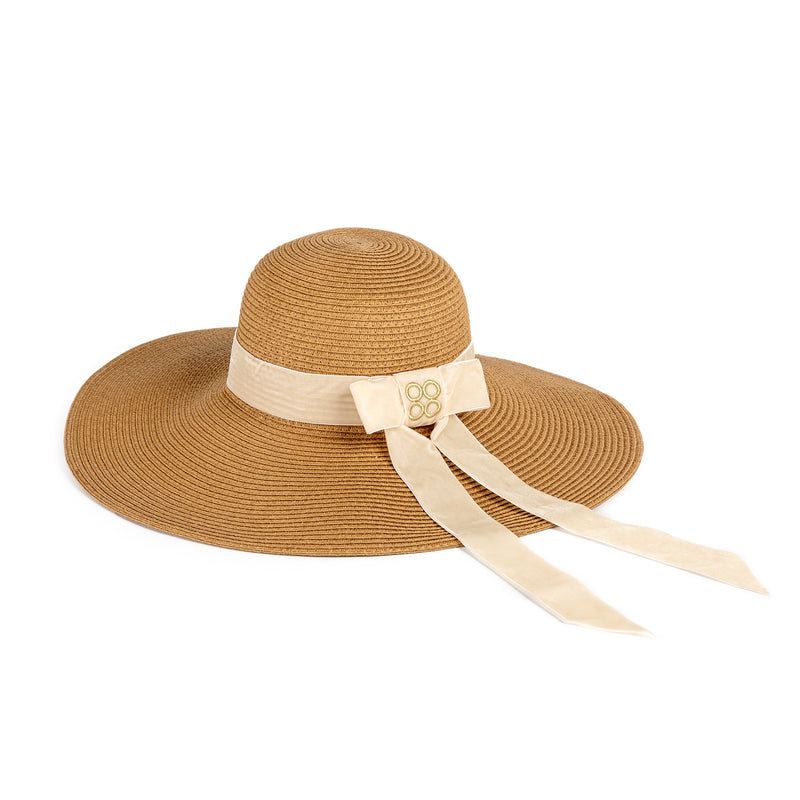 Audrey Floppy Straw Hat in Sand | Parisa Wang