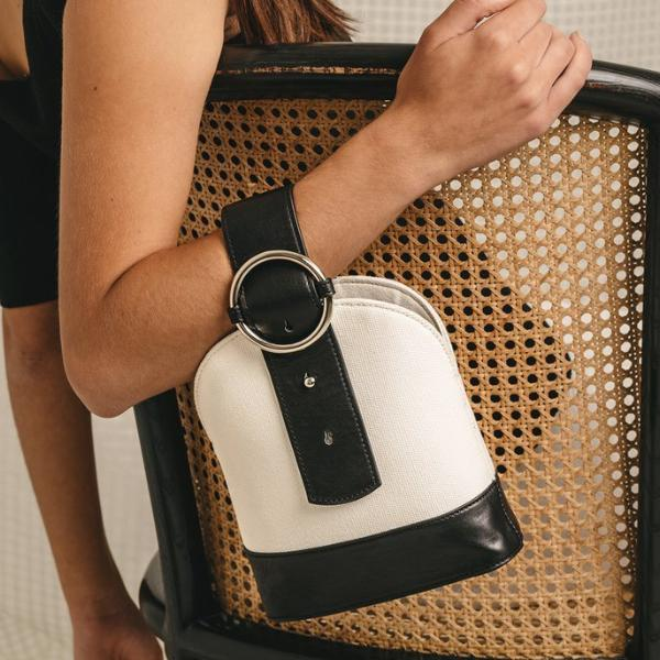 Addicted Bracelet Bag in Canvas | Parisa Wang | Featured