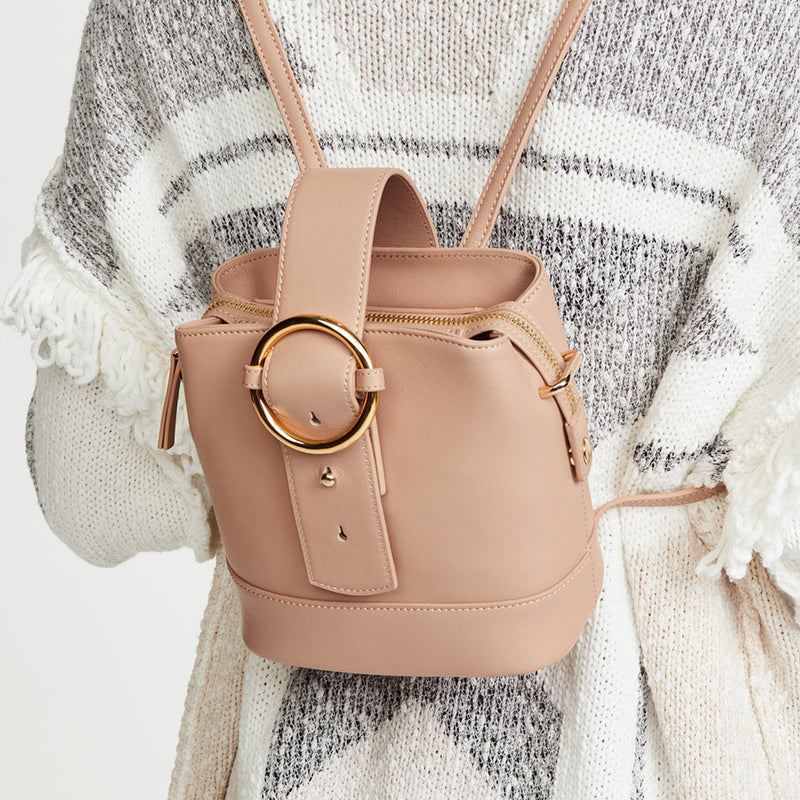 Addicted Mini Backpack in Beige | Parisa Wang | Featured