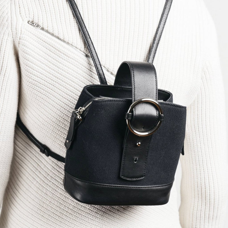 Addicted Mini Backpack in Black Silver | Parisa Wang | Featured
