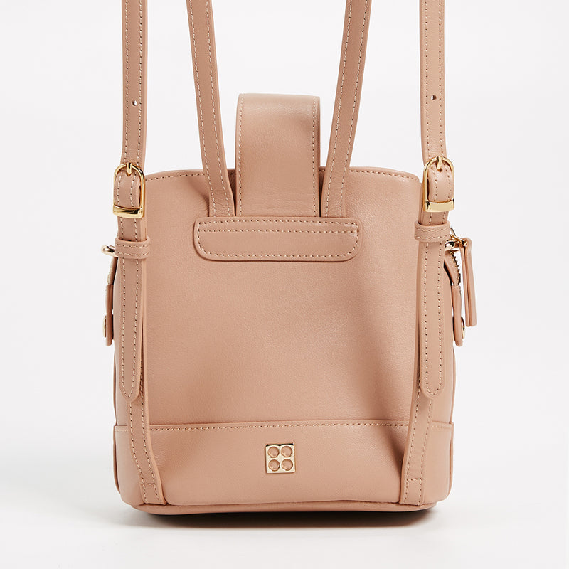 Addicted Mini Backpack in Beige | Parisa Wang