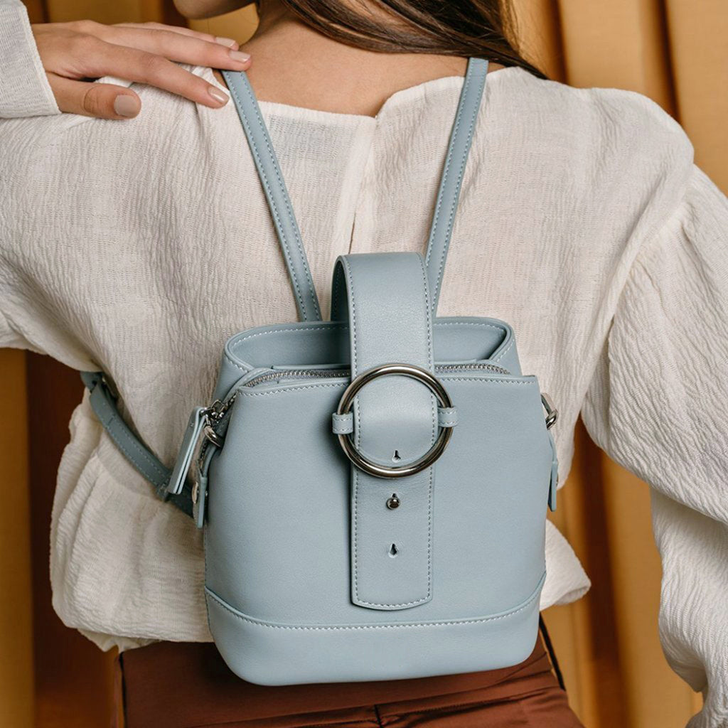 Addicted Mini Backpack in Cloudy Blue | Parisa Wang | Featured