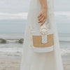 Allured Bucket Bag in Bamboo White | Parisa Wang | Featured