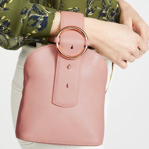Addicted Bracelet Bag in Peach | Parisa Wang | Featured