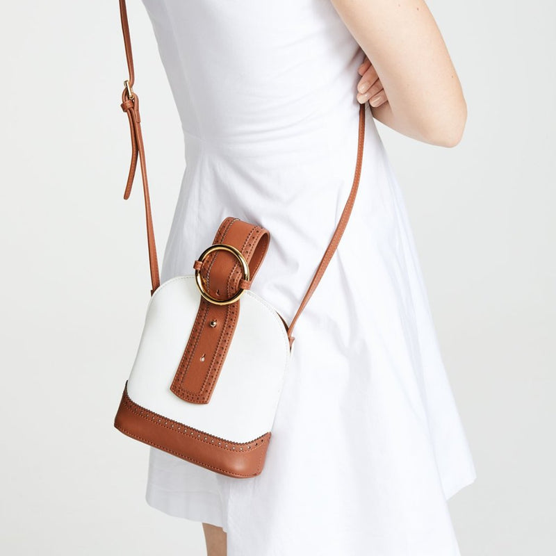 Addicted Brogue Bracelet Bag in Brown Cream | Parisa Wang | Featured