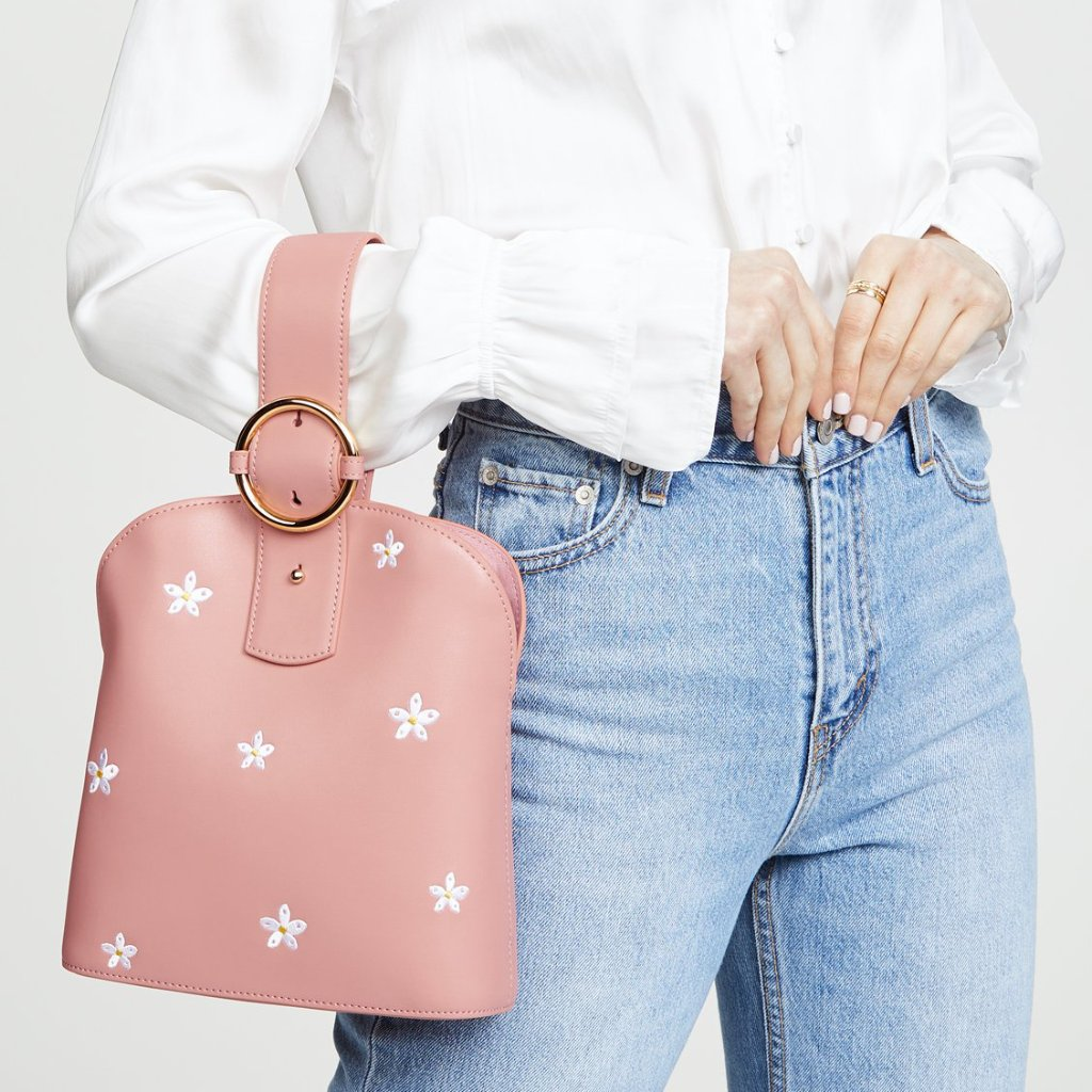 Addicted Medium Bracelet Bag in Peach | Parisa Wang | Featured