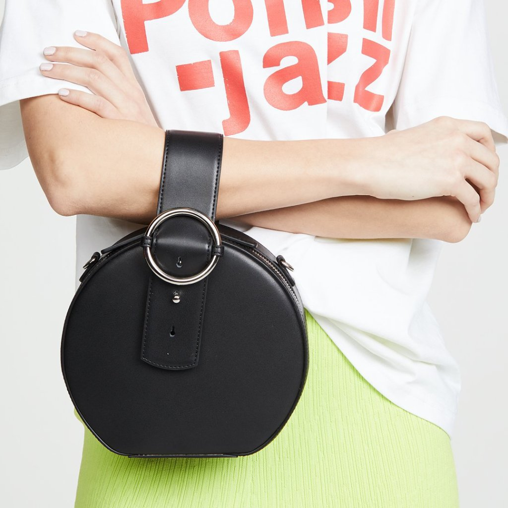 Addicted Circle Bag in Black | Parisa Wang | Featured