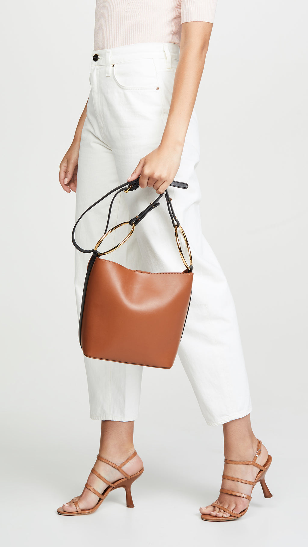 Hooked Chain & Bucket Bag in Brown | Parisa Wang | Featured