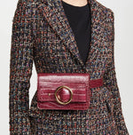 Allured Belt Bag in Burgundy | Parisa Wang | Featured