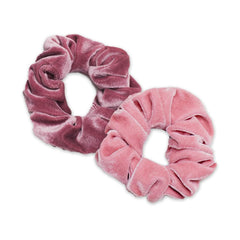 Beachwaver Soft Lilac and Rose Pink Velvet Scrunchies